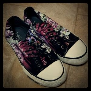 Authentic Ed Hardy Distressed Sneakers